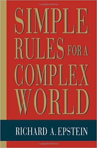 Epstein, R: Simple Rules for a Complex World (Paper): Amazon.es: Epstein, Richard A.: Libros en idiomas extranjeros